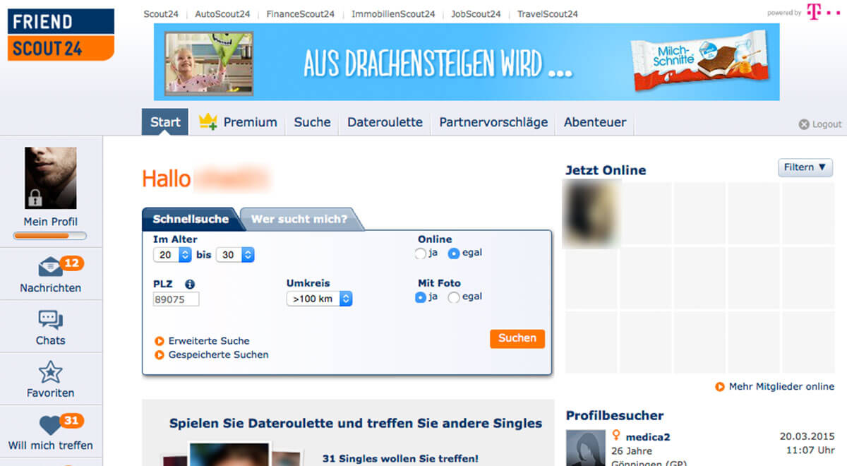 Partnervermittlung friendscout24