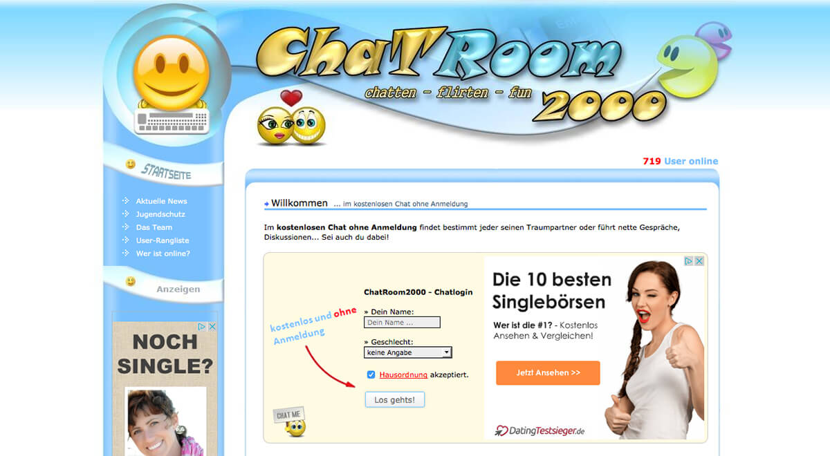Anonymer dating-chatraum